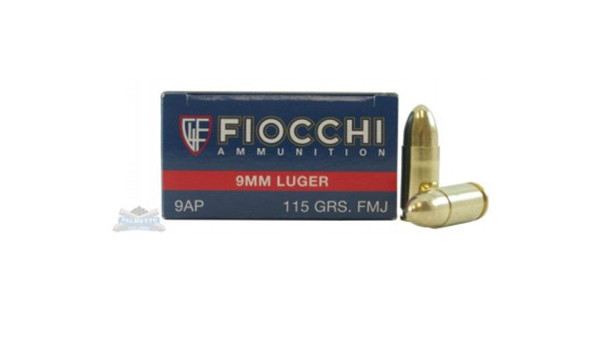 Fiocchi 9mm 115gr FMJ 50 Rounds Ammunition