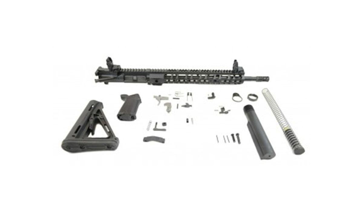 PSA 5.56 Nato 1:7 Midlength Nitride 13.5″ Lightweight M-LOK EPT Rifle Kit w/ MBUS Sight Set