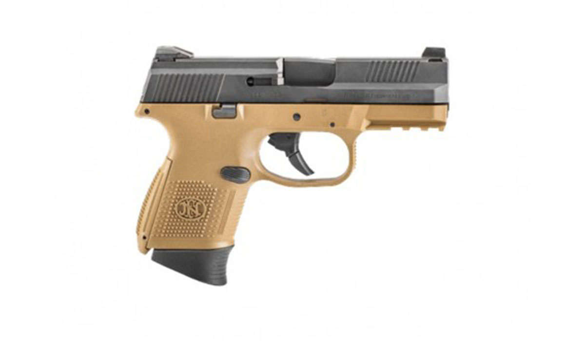 FN FNS-9 Compact 9mm 17rd/12rd Pistol, FDE/Black