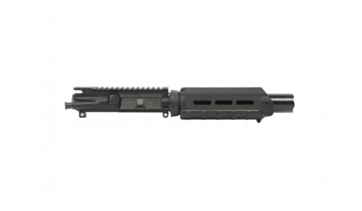 "PSA 7"" Nitride 1:7 Pistol Length 300AAC Blackout Marauder AR-15 Upper Assembly, Black - No BCG/CH"