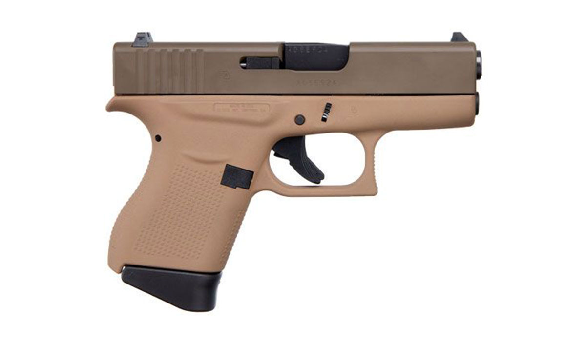 "GLOCK G43 3.39"" 9MM PISTOL, FDE/BROWN - ACG-00858"
