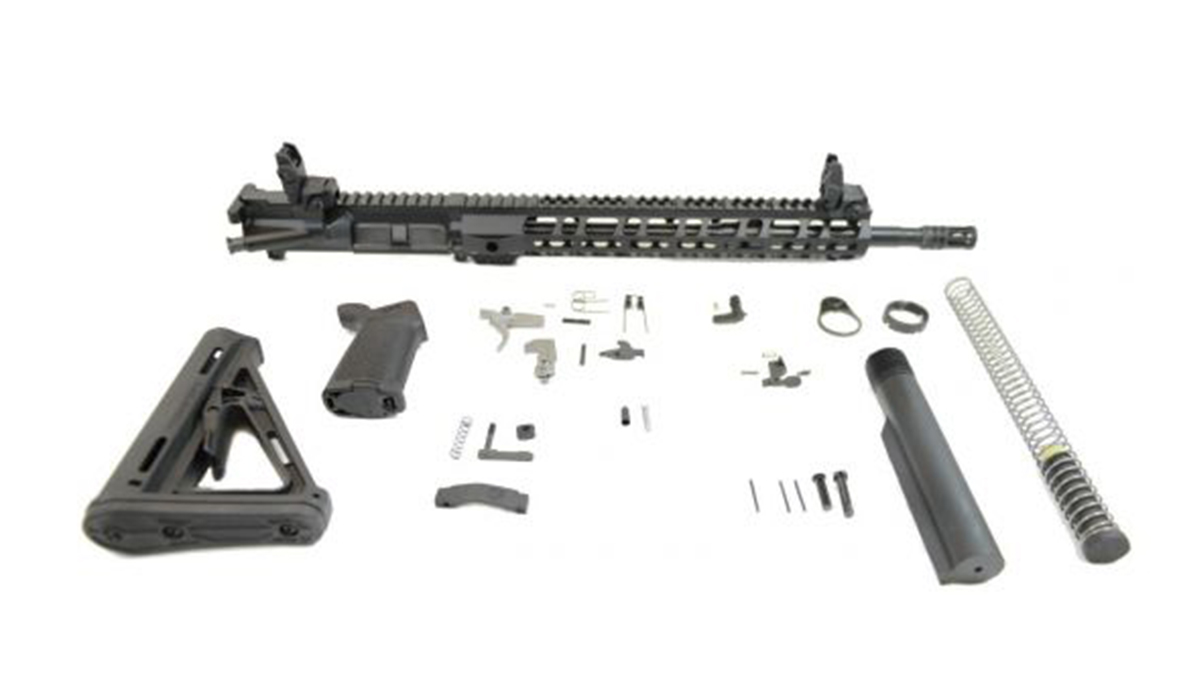 "PSA 16"" 5.56 NATO 1:7 Midlength Nitride 13.5"" Lightweight M-Lok MOE EPT Rifle Kit W/ MBUS Sight Set"